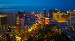 Las Vegas, The Strip, Night to Day TIME LAPSE - ZOOM to tight crop Stock Footage