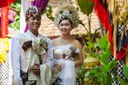 Stock Photo of balinese wedding