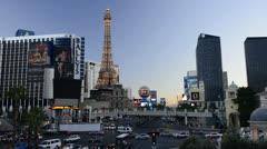 Las Vegas, The Strip, Paris Las Vegas Resort Stock Footage