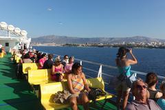 passenger ferry boat - stock photo