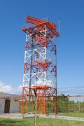radar tower - stock photo