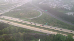 Flying Above a Highway Stock Footage