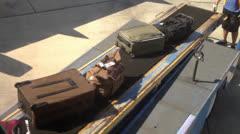 Baggage Handlers Stock Footage