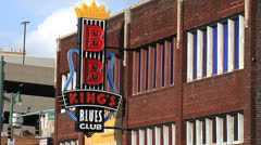BB King's Blues Club, Memphis, Tennessee Stock Footage