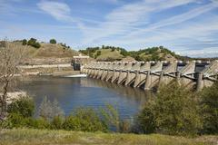 Nimbus Dam spillway American River Sacramento California Stock Photos