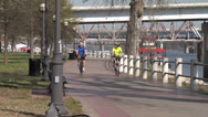 Stock Video Footage of Cycling On Arkansas River Trail
