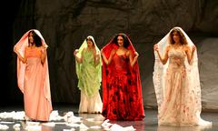 Stock Photo of berlin - january 2007: pina bausch 'rough cut' performance on january 23, 200