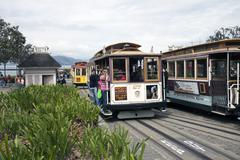 San Francisco Cable Car passengers Stock Photos