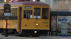 Heritage River Rail Streetcar, Little Rock, Arkansas Stock Footage