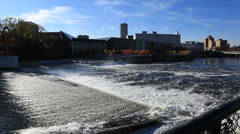 River, Skyline, Rapids - stock footage