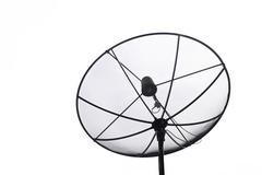Satellite dish transmission data  on white background Stock Photos