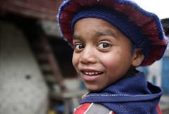cute nepali kid - stock photo