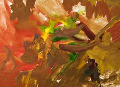 Stock Illustration of child's painting - brown gouache brush strokes