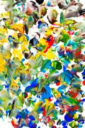 Stock Illustration of child's painting - abstract gouache spot