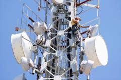 Stock Photo of telecommuncation man