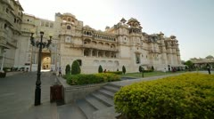 Courtyard at City Palace, Udaipur Stock Footage