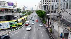 Narathiwat Road, Bangkok Thailand Stock Footage