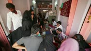 JAIPUR, INDIA - APRIL, 2013: Local people buying jewellery Stock Footage
