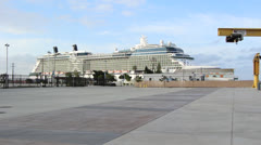 Celebrity Solstice In Port Stock Footage