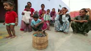 JAIPUR, RAJASTHAN, INDIA - APRIL, 2013: Group of Local people playing with Stock Footage