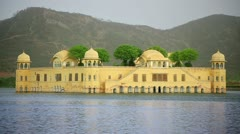 Historic palace architecture and water - stock footage