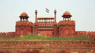 Stock Video Footage of Majestic facade of Red Fort in Old Delhi