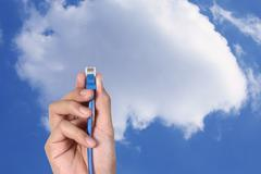 Stock Photo of cloud computing.