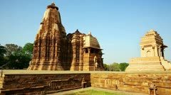 General View of Kama Sutra Temples, India Stock Footage