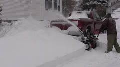 Snowblowing Deep Snow Stock Footage