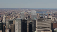 Met Life Building, Aerial View of New York City Skyline by day Stock Footage