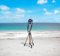 Reflex on the beach Stock Photos