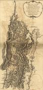 Map of burgoyne's army, before saratoga, 1777 Stock Illustration