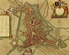 Stock Illustration of antique map of  's-hertogenbosch
