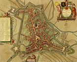 Antique map of  's-hertogenbosch Stock Illustration
