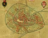 Stock Illustration of antique map of  utrecht, netherlands