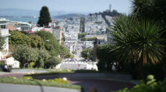 Time lapse shot of traffic on San Francisco's famous and iconic Lombard Street Stock Footage