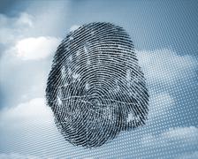 Fingerprint in sky Stock Photos