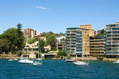 Harbourside living Stock Photos