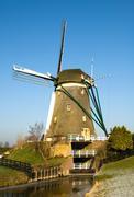 Dutch windmill Stock Photos