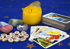 Items for divination Stock Photos