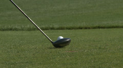 Golfing tee off Stock Footage
