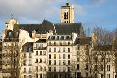 Parisian apartments Stock Photos