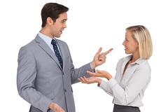 Business people meet each other - stock photo