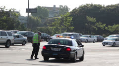 LAPD Traffic Officers Stock Footage