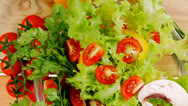 Stock Video Footage of fresh salad