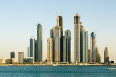 skyscrapers, dubai, united arab emirates - stock photo