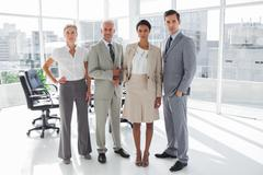 Stock Photo of Business people standing in line
