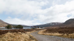 rainy day in the Scottish Highlands - stock footage