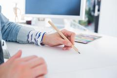 Female hands drawing Stock Photos