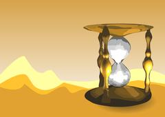 Sands of time Stock Illustration